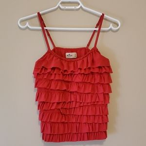 Hollister hot pink tank top size s